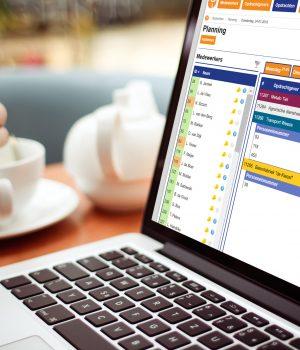 Laptop koffie Planning